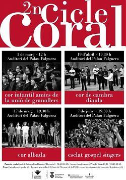Cartell del 2on Cicle Coral a Sant Feliu de Llobregat