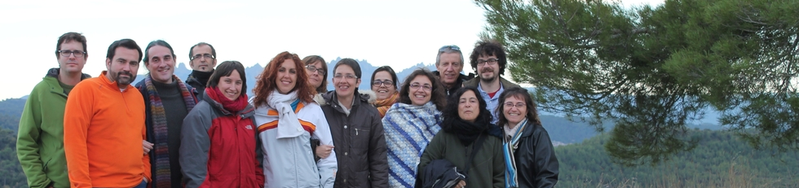 Foto de grup del Cor Ariadna a Talamanca