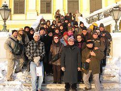 Membres del Cor Signum en el viatge a Vienna