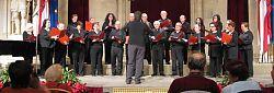 El Cor Signum en un concert a l'Ajuntament de Vienna