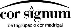 Logo del Cor Signum de l'Agrupació Cor Madrigal