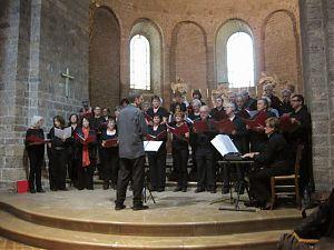 El Cor Signum durant el concert a l'Abadia de St. Guilhem le Désert