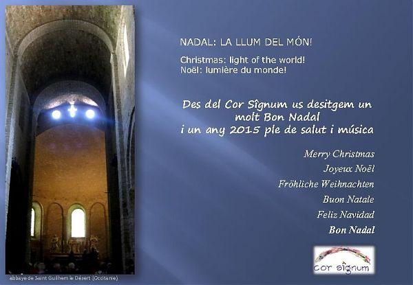 Nadala del Cor Signum de l'Agrupació Cor Madrigal